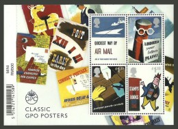 GB 2016 POST & GO HERITAGE TRANSPORT ART POSTERS POST BOXES M/SHEET MNH - Nuevos