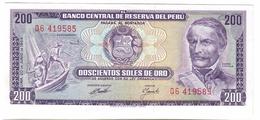 Peru 200 Pesos 1969 UNC - Pérou