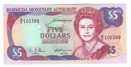Bermuda 5 Dollars 1992 UNC - Bermudas