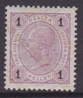 Austria 1901 Sc 70A MINT HINGED - Ongebruikt