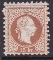AUSTRIA 1877 P.9.5 Sc 38 Mint Hinged - Gebruikt