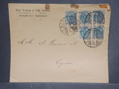 DANEMARK - Enveloppe Commerciale Pour La France En 1897 , Affranchissement Plaisant - L 7212 - 1864-04 (Christian IX)