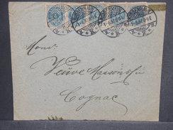 DANEMARK - Enveloppe Pour La France En 1897 , Affranchissement Plaisant - L 7214 - Lettere