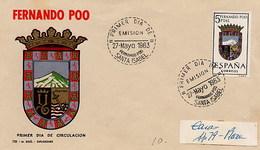ESPANA - FDC 1963 -  FERNANDO POO  -  Stemma Wappen - FDC