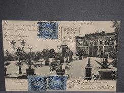 CHILI - Oblitération De Santiago Sur Carte Postale Pour La France En 1904 , Affranchissement Plaisant - L 7221 - Chili