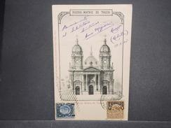 CHILI - Oblitération De Santiago Sur Carte Postale Pour La France En 1905 , Affranchissement Plaisant - L 7222 - Chili