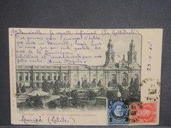 CHILI - Oblitération De Santiago Sur Carte Postale Pour La France En 1905 , Affranchissement Plaisant - L 7224 - Chili