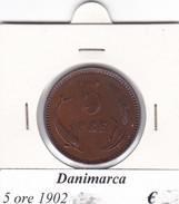DANIMARCA   5 ORE  1902  COME DA FOTO - Danimarca