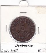 DANIMARCA   5 ORE  1907  COME DA FOTO - Danimarca