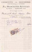 DEVIS + TIMBRE FISCAL Des Ets  Paul  MARCHAND - RIVELOIS - Charpente, Menuiserie, Ameublement à GONDECOURT (59) - Textilos & Vestidos