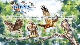 MALDIVES 2015 SHEET BIRDS OF PREY OISEAUX DE PROIE AVES DE PRESA RAPACES RAPACI PASSAROS UCCELLI Mld15-1203a - Maldivas (1965-...)