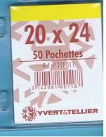 50 Pochettes Simple Soudure Transparentes 20x24mm - Enveloppes Transparentes