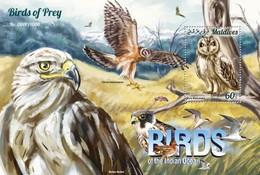 MALDIVES 2015 SHEET BIRDS OF PREY OISEAUX DE PROIE AVES DE PRESA RAPACES RAPACI PASSAROS UCCELLI Mld15-1203b - Maldivas (1965-...)
