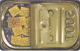 Czech Rep. C332, Calendar 2001, 2 Scans.