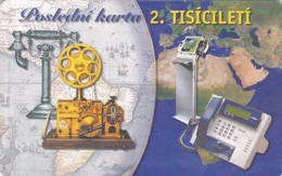 Czech Rep. C337, Last Card In 2. Millennium, 2 Scans.