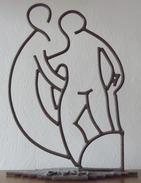 Vignal - Hommage à Matisse - Dessin De Fer - Oeuvre Unique 55 X 42 Cm - 4,4 Kilos - Sculptures