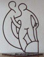 Vignal - Hommage à Matisse - Dessin De Fer - Oeuvre Unique 55 X 42 Cm - 4,4 Kilos - Sculpturen