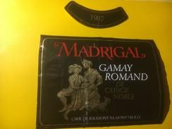3927 - Madrigal 1987 Gamay Romand Suisse - Etiquettes