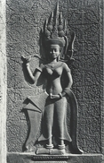 Angkor Vat. Detail D`une Devata Cambodia  S-3227 - Cambodia