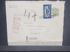 PORTUGAL - Env. En Recommande De Lisbonne Pour La Suisse En 1943 Avec Contrôle Postal Allemand , Affr. Plaisant - L 7243 - 1910-... République