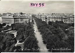 Lazio-roma Citta' Piazza Dei Re Di Roma Via Appia Nuova Veduta Panoramica D'epoca Anni 50 - Places & Squares