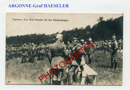 ARGONNE-Argonnenwald-GRAF HAESELER-CARTE Photo Allemande-Guerre-14-18-1 WK-FRANCE-08-55-Militaria-Feldpost- - Oorlog 1914-18