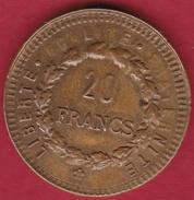 France 20 Francs Génie - Fausse Fantaisie En Plastique - France