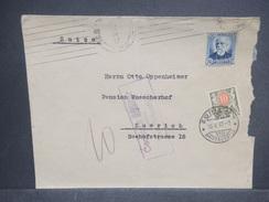 ESPAGNE - Enveloppe De San Sebastien Pour La Suisse En 1937 Avec Censure , Affranchissement Plaisant , Taxé  - L 7254 - Marcas De Censura Nacional