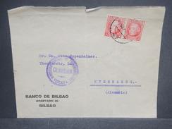 ESPAGNE - Enveloppe De Bilbao Pour L' Allemagne Avec Censure De Vizcaya , Affranchissement Plaisant - L 7255 - Marcas De Censura Nacional