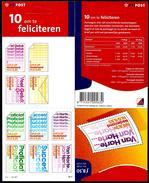 Nederland 2001: PB 71; 10 Om Te Feliciteren ** MNH - Periodo 1980 - ... (Beatrix)
