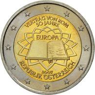 Autriche, 2 Euro, Traité De Rome 50 Ans, 2007, SPL, Bi-Metallic - Autriche
