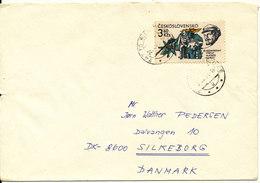 Czechoslovakia Cover Sent To Denmark 1981 Single Franked - Czechoslovakia