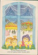 Frohe Weihnachten, Gesundes Neues Jahr, Weihnachtsmarkt, DDR Künstler-Postkarte 1985, Feiern & Feste, Zeichner - Other