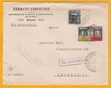 1932 - CGA Compagnie Générale Aéropostale, Ligne Mermoz - Enveloppe S. Bahia - Leipzig, Allemagne - Poste Aérienne (Compagnies Privées)