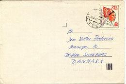 Czechoslovakia Cover Sent To Denmark 18-5-1982 Single Franked - Czechoslovakia