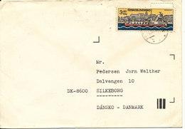 Czechoslovakia Cover Sent To Denmark Single Franked - Czechoslovakia