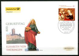 """First Day Cover Germany 2007 Mi.Nr.2628 Ersttagsbrief""""800.Geburtstag Von Hl.Elisabeth Von Thüringen"""" 1 FDC"""