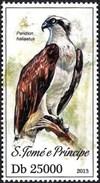 Sao Tome And Principe 2013 - Birds Of Prey - Western Osprey - Eagles & Birds Of Prey
