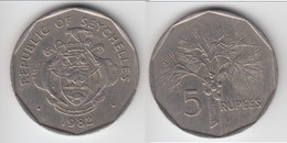 **** SEYCHELLES - 5 RUPEES 1982 - ARBRE FRUITIER - FRUIT TREE **** EN ACHAT IMMEDIAT !!! - Seychelles