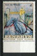 Penrhyn Islands 1983 $1.00 Save The Whales #227 MNH - Penrhyn