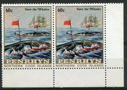 Penrhyn Islands 1983 60c Save The Whales #226 Pair  MNH - Penrhyn