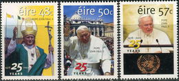 Ireland 2003. Michel #1547/49 MNH/Luxe. 25 Years Pontificate Pope John Paul II. (Ts15) - 1949-... Repubblica D'Irlanda