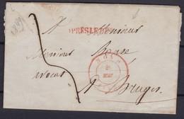 Lettre (lac ) GRIFFE APRES LE DEPART De MONS  26 Mai 1849 - 1830-1849 (Belgique Indépendante)