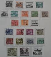 Allemagne Berlin - 1949-54 - Monuments - Petit Lot De 19 Timbres° Sur Feuille Leuchtturm - Vrac (max 999 Timbres)