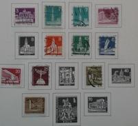 Allemagne Berlin - 1956-63 - Monuments - Petit Lot De 13 Timbres° Sur Feuille Leuchtturm - Timbres