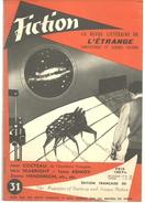 FICTION N° 31 Juin  1956 Revue Littéraire De L'étrange Fantastique Et Science Fiction - J COCTEAU, Idris SEABRIGHT, Etc - Libri, Riviste, Fumetti