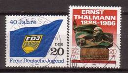 DDR , 1986 , Mi.Nr. 3002 / 3014 O / Used - DDR