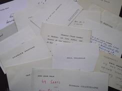 CARTES De VISITE - Lot De 16 - Intéressant ! - Visiting Cards