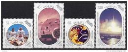 Vanuatu - 1989 - Yvert N° 832 à 835 **  - 20° Anniversaire Du 1° Homme Sur La Lune - Vanuatu (1980-...)