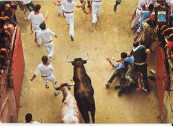 PAMPLONA - CORRIDA FESTA DI SAN FIRMINO - VIAGGIATA 1988 NON TIMBRATA - Corrida